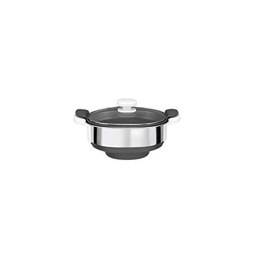 Moulinex XF384B10 - Accesorio para cocinar al vapor Cuisine Companion, capacidad de 3.7 L, suficiente para 6 personas, aporta 2 niveles de cocción adicionales a tu Cuisine Companion, asas aislantes