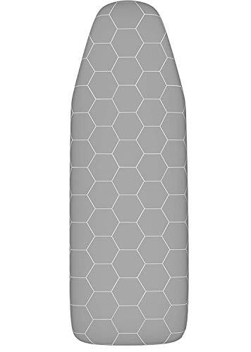 Funda Tabla de Planchar Ajustable. Hecho en Alemania. Refleja el Calor y el Vapor con el Revestimiento de Aluminio. Para Tablas de Planchar 120x40 cm (M)