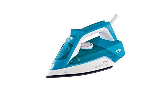 Beko SIM 3124 D Plancha, 2400 W, Golpe 120g/min, Vapor Continuo 35 g/min, Suela cerámica, Antical, aapagado automático, Azul