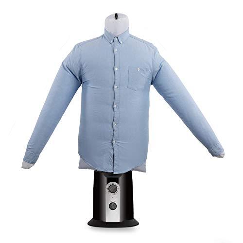 Oneconcept ShirtButler Clean Edition - Secador de Camisas automático, 2 en 1: Seca y Plancha, Maniquí de Planchado, Aire frío y Caliente, Easy-Dry, Tallas Desde S hasta L, hasta 65 °C, Negro