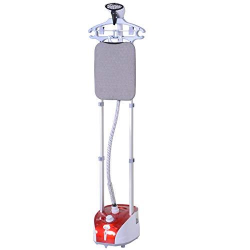HOMCOM Cepillo de Vapor para Ropa 1800W Temperatura Ajustable a 11 Niveles Centro de Planchado Vertical de Doble Barra con Depósito de 2L en 38s de Calentamiento