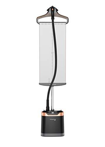 Rowenta IS8460D1 - Cepillo de vapor 1800 W, depósito 1,3 L, elimina arrugas, olores y desinfecta, listo en 45 seg, accesorio prendas delicadas y gruesas, tabla vertical cabezal XL con 5 accesorios