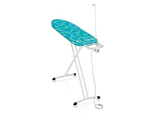 Leifheit Tabla de planchar plegable Air Board M Solid Plus para planchas de vapor, mesa de planchar ultraligera, tabla de planchado en menos tiempo