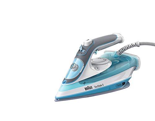 Braun Household Braun TexStyle 5 SI 5006 BL-Plancha Suela FreeGlide 3D, Vertical, 2600 W, Golpe de Vapor 180 g/min, depósito de Agua de 300 ml, Color Azul