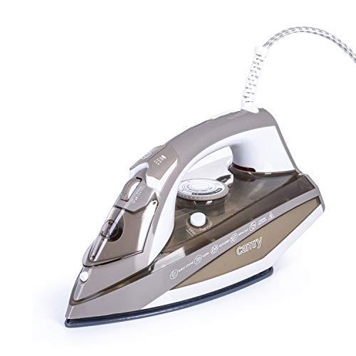 Camry CR5018 Plancha de vapor Potente de 3000 W, vapor 55 g/min, golpe de vapor 230 g/min, suela ceramica