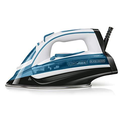 Black+Decker BXIR2402E Plancha de vapor, 2400 W, 370 milliliters, Plástico, Azul
