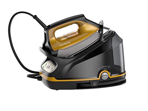 Rowenta Compact Steam Pro DG7644 Centro de planchado de vapor, 2200 W, 1100 milliliters, negro y amarillo