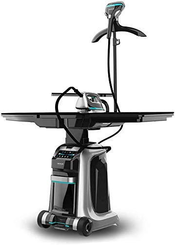 Cecotec Centro de Planchado Inteligente Total Iron 10100 Pro. Plancha Vertical y Horizontal, Succión e Inflado, 5 Programas para 5 Tejidos, 220 g/min y 5 Bares