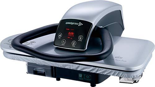 Speedypress Professional 71HD-S - Prensa de planchado de vapor (1600 W, 68 cm, incluye fijación de hierro, filtro de agua antiescala, cubierta de repuesto y fieltro de espuma)