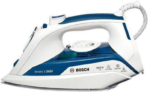 Bosch TDA5028010 Sensixx DA50 Plancha de vapor, 2800 W, color azul y blanco