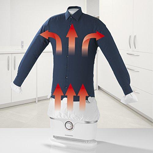 CLEANmaxx Plancha automática sin función de vapor | Seca y alisa camisas y blusas y sustituye a la plancha | Estación de planchado automática con 2 programas