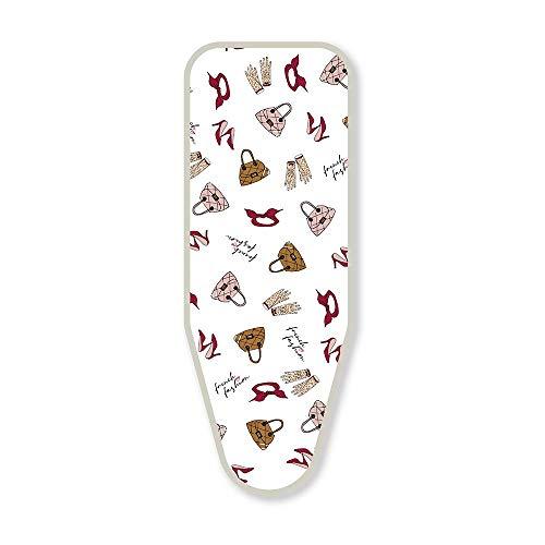 French Fashion Cheetah Chic - Tamaño S/M 134x49cm - Funda para Tabla de Planchar de algodón 100% con una Capa Inferior de Rizo Extra Gruesa. para Todas Las Tablas de Planchar pequeñas y Medianas