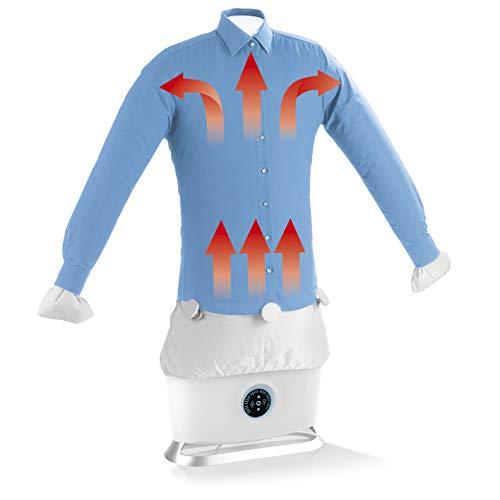 CLEANmaxx Plancha automática con función de vapor | Seca y alisa camisas y blusas y sustituye a la plancha | Estación de planchado automática con 2 programas