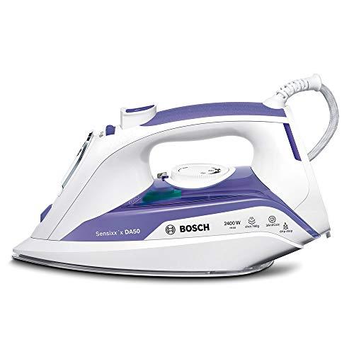 Bosch TDA5024010 Sensixx DA50 Plancha de vapor, 2400 W, 5.5 bares de presión, color morado y blanco