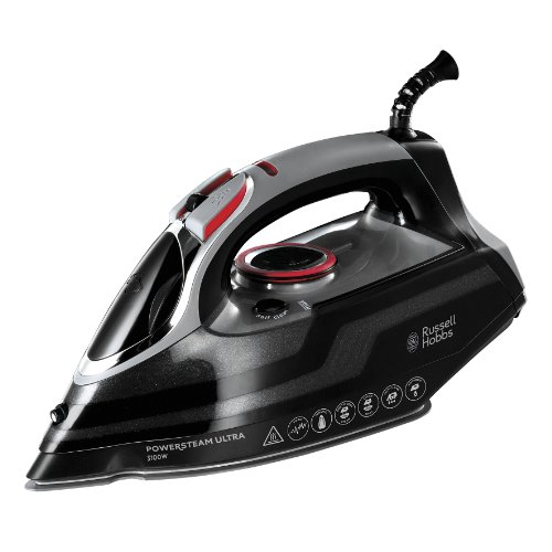 Russell Hobbs PowerSteam Ultra - Plancha de Vapor, 3100 W, Color Negro