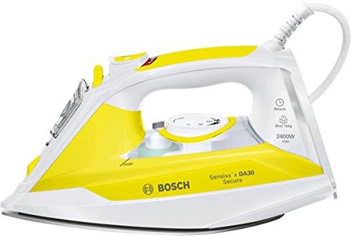 Bosch Sensixx DA30 Secure TDA3024140 Blanco, Amarillo - Plancha (2 m, Blanco, Amarillo, 40 g/min, 0,32 L, 2400 W)