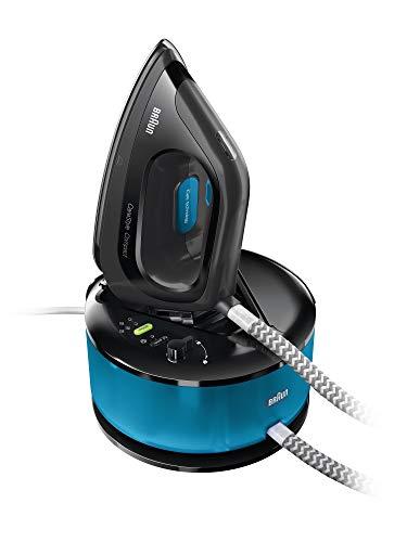 Braun CareStyle Compact IS2055BK - Centro de Planchado, Suela 3D Eloxal Plus, Potencia 2200 W, Depósito 1.3 L, Vapor Constante 125 g/min, Presión 5 bar y Golpe de Vapor 400 g/min, Azul/Negro