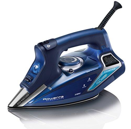 Rowenta Steamforce DW9240 - Plancha ropa vapor 3.100 W, golpe de vapor 230 gr/min y vapor continuo de 65 gr/min, ajuste automático temperatura, antical integrado, autoapagado y autolimpieza, Azul